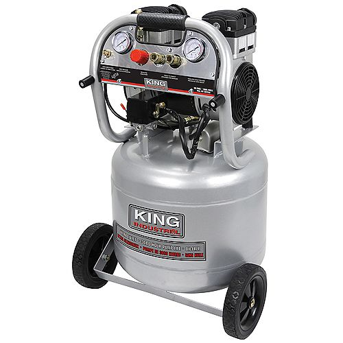 King Industrial 10 Gallon Ultra Quiet Oil Free Air Compressor