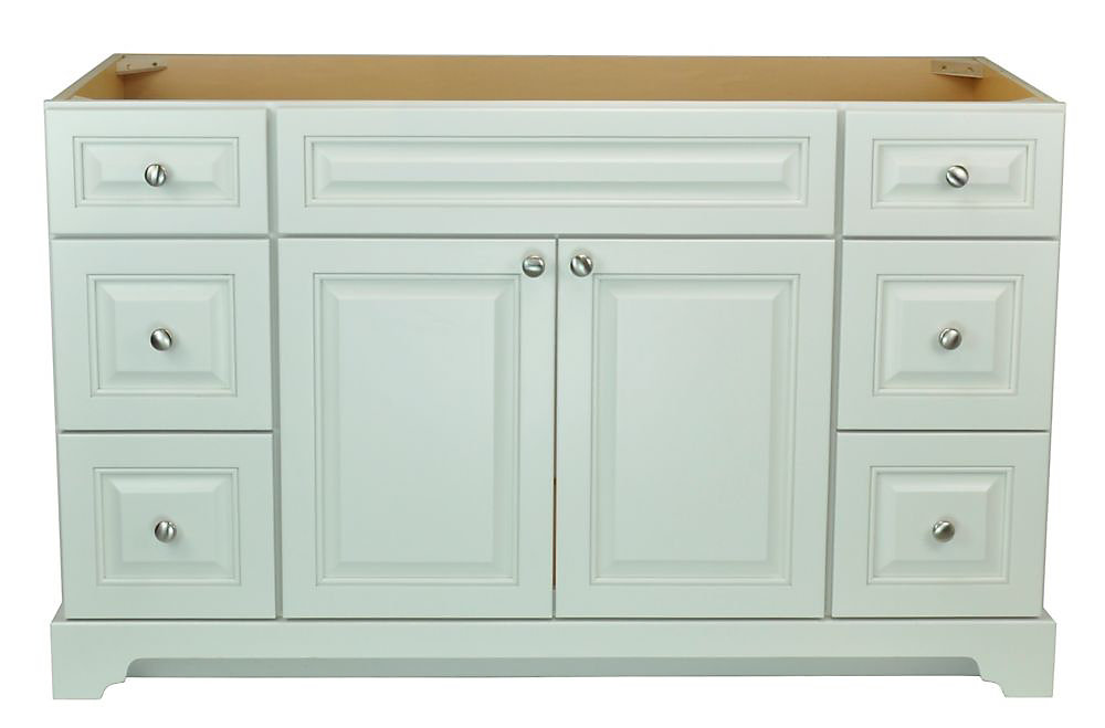 Bold Damian 54 inch Vanity Cabinet in Antique White