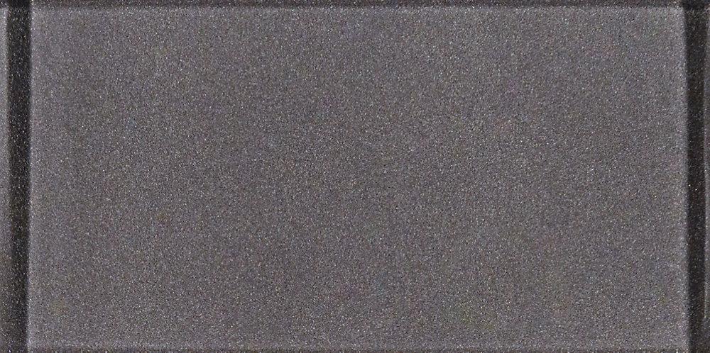 Metallic Grey 3-inch x 6-inch Glass Wall Tile (1 sq. ft. / case)
