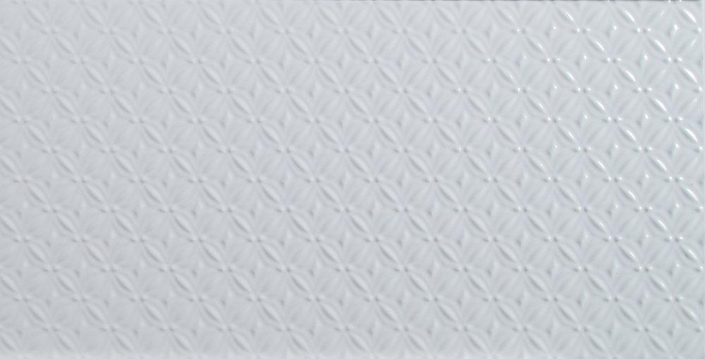Dymo Pattern White Glossy 12-inch x 24-inch Glazed Ceramic Wall Tile (16 sq. ft. / case)