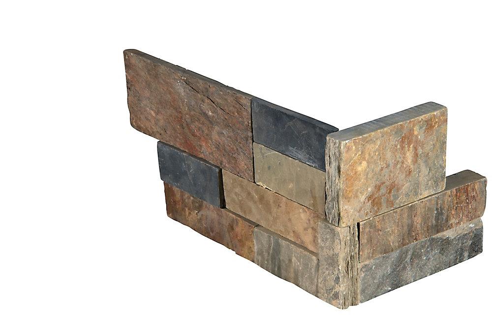 Gold Rush Ledger Corner 6-inch x 18-inch Natural Slate Wall Tile (4.5 sq. ft. / case)