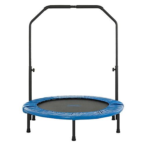 40 po mini trampoline pliable de remise en forme avec rampe ajustable