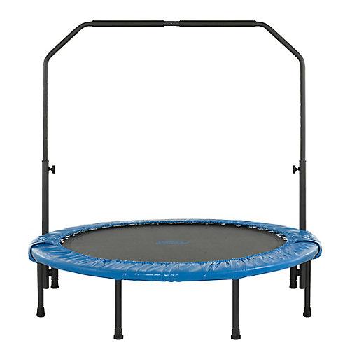 48 po mini trampoline pliable de remise en forme avec rampe ajustable