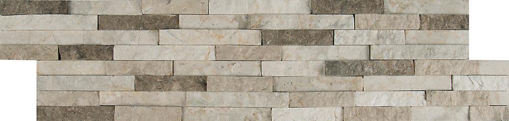 Carreaux de marbre pour murs, languettes Colorado Canyon en panneaux, 6 po x 24 po (80  pi ca/palette)
