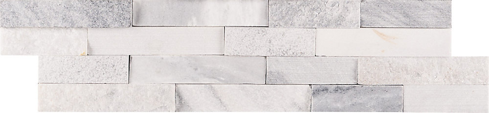 Alaska Multi Ledger Panel 6-inch x 24-inch Natural Marble Wall Tile (60 sq. ft. / Pallet)