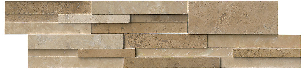 Casa Blend 3D Honed Ledger Panel 6-inch x 24-inch Natural Quartzite Wall Tile (80 sq. ft. / case)
