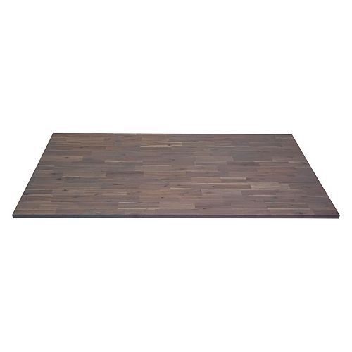 Home Decorators Collection Acacia Countertop 74 in x 40 in x 1 in, Dusk Grey Hardwax Wood Oil Finish