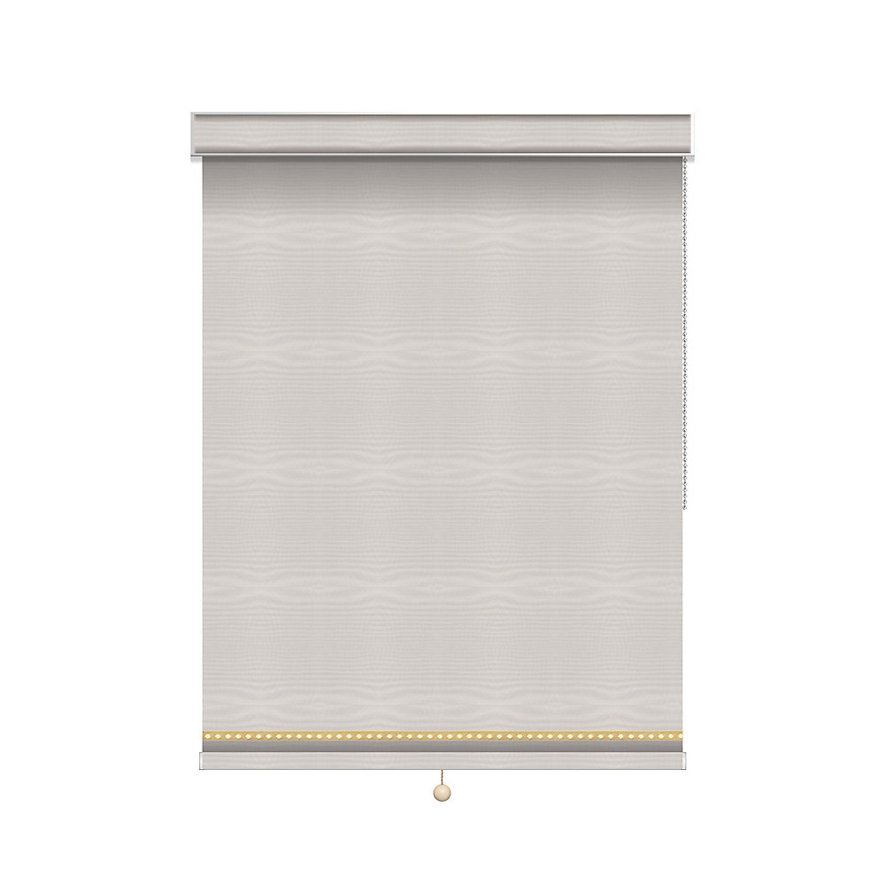 Blackout Roller Shade with Deco Trim - Chain Operated with Valance - 51.75-inch X 60-inch