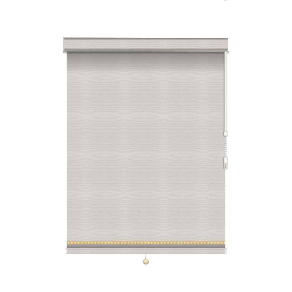 Blackout Roller Shade with Deco Trim - Chain Operated with Valance - 68-inch X 84-inch
