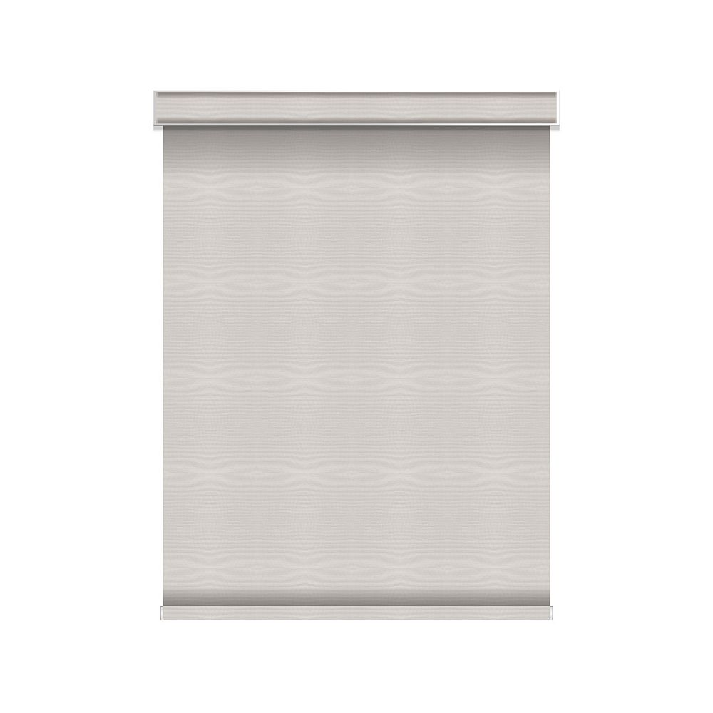 Sun Glow Blackout Roller Shade - Chainless with Valance - 56.25-inch X 36-inch in Ice