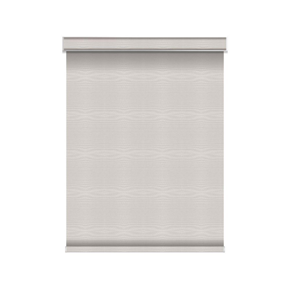 Sun Glow Tissue Opaque Toiles à Rouleau - sans Chaîne avec Cantonnière  - 62.5-po X 60-po en Glace