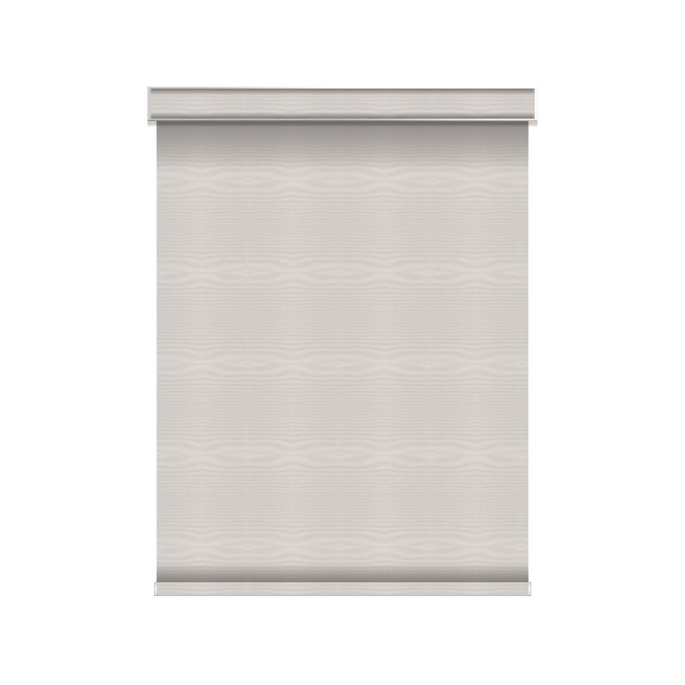 Blackout Roller Shade - Chainless with Valance - 54.25-inch X 84-inch in Ice