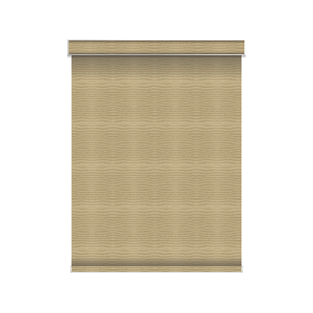 Blackout Roller Shade - Chainless with Valance - 56-inch X 60-inch
