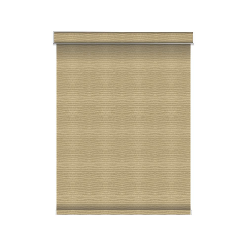 Blackout Roller Shade - Chainless with Valance - 55.5-inch X 84-inch in Champagne