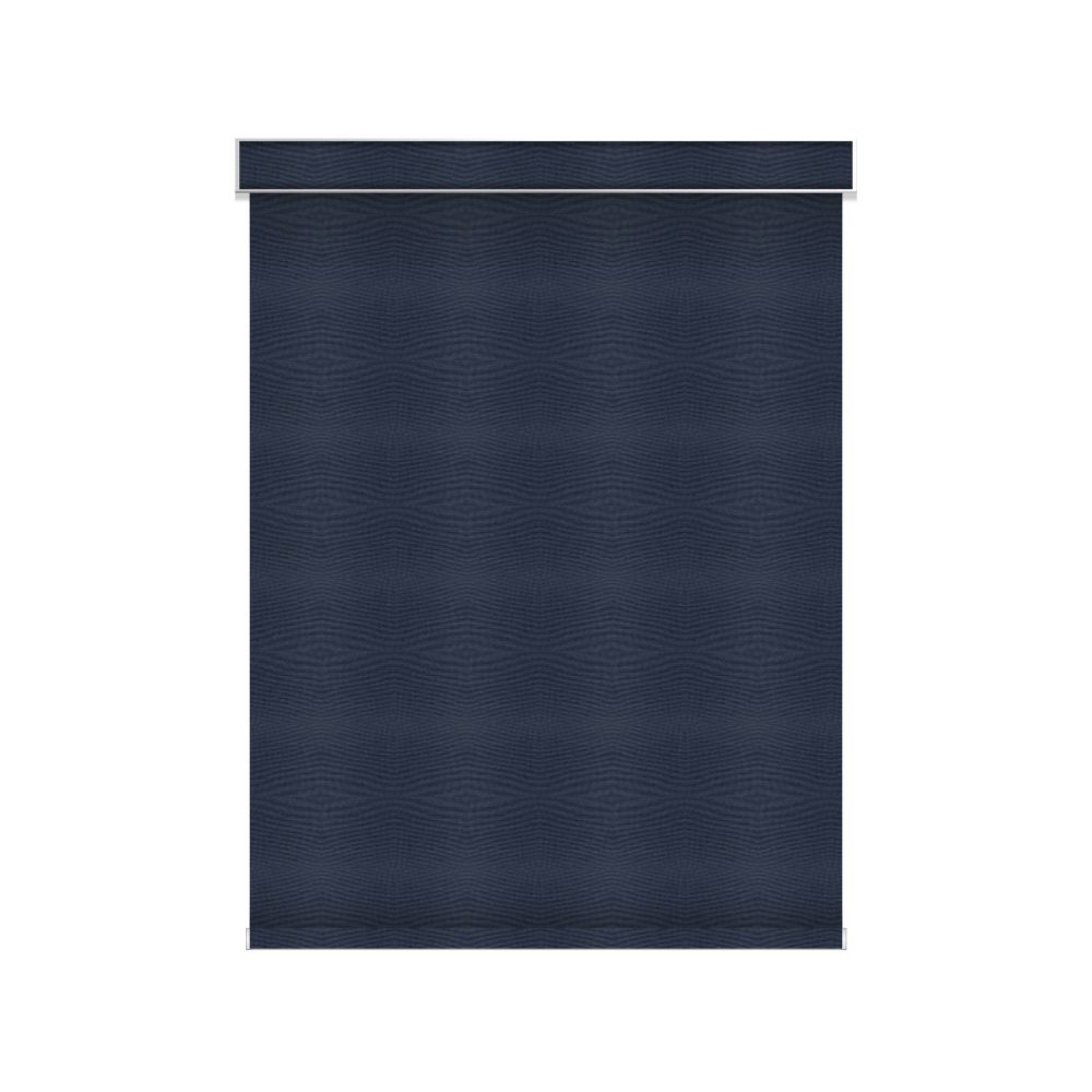 Blackout Roller Shade - Chainless with Valance - 38.5-inch X 36-inch in Navy