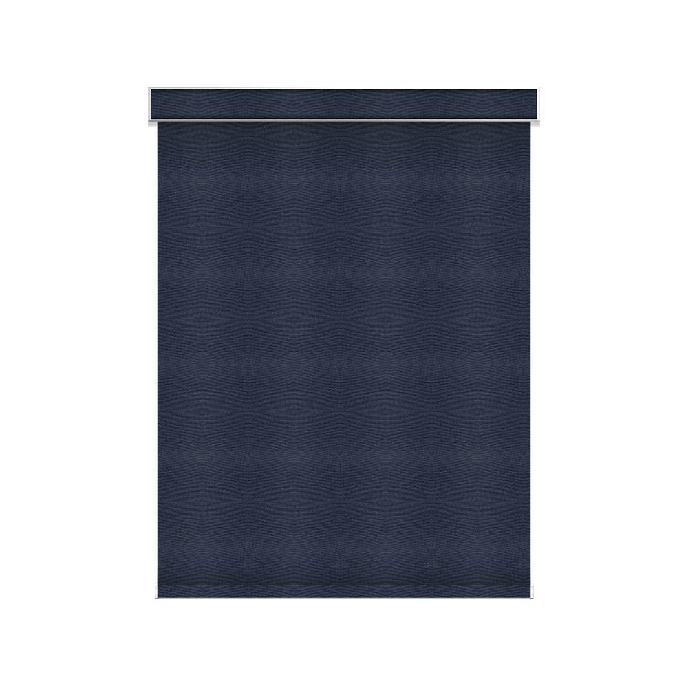 Sun Glow Tissue Opaque Toiles à Rouleau - sans Chaîne avec Cantonnière  - 32.25-po X 60-po en Marine