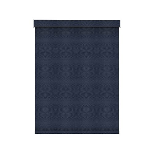 Sun Glow Blackout Roller Shade - Chainless with Valance - 61.25-inch X 60-inch in Navy