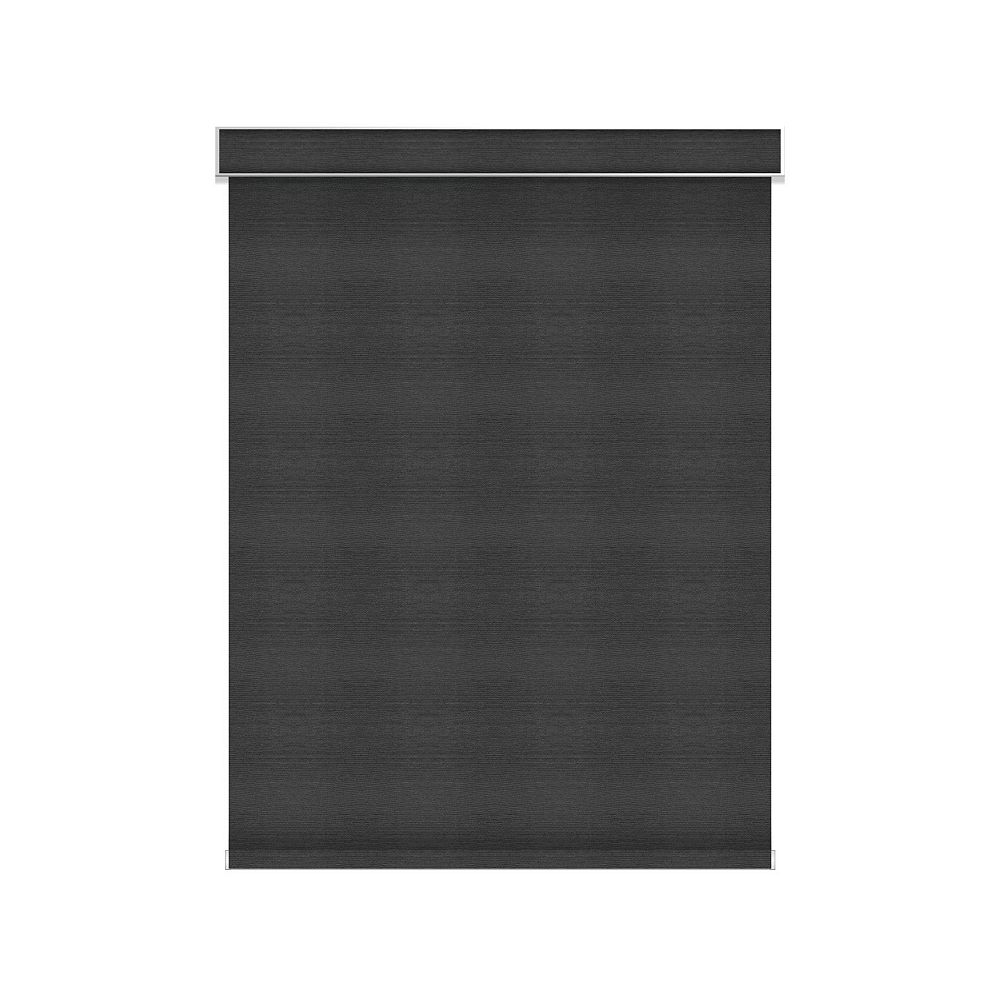 Sun Glow Blackout Roller Shade - Chainless with Valance - 73.5-inch X 84-inch in Denim