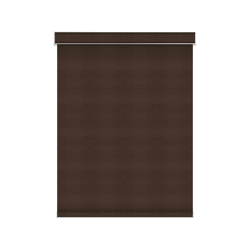 Sun Glow Blackout Roller Shade - Chainless with Valance - 54.5-inch X 36-inch in Cinder