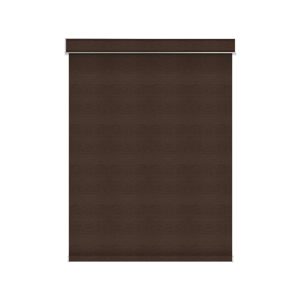 Blackout Roller Shade - Chainless with Valance - 65.25-inch X 36-inch in Cinder