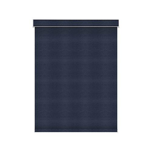 Sun Glow Tissue Opaque Toiles à Rouleau - Motorisé avec Cantonnière - 75.25-po X 60-po en Marine