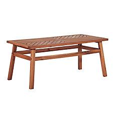 Patio Wood Coffee Table - Brown