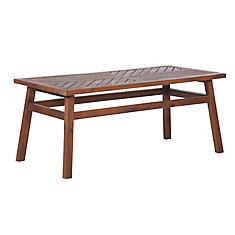 Patio Wood Coffee Table - Dark Brown