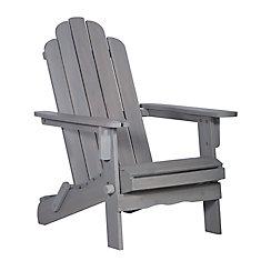 Patio Wood Adirondack Chair  - GrayWash