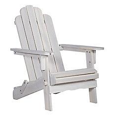 Patio Wood Adirondack Chair - WhiteWash