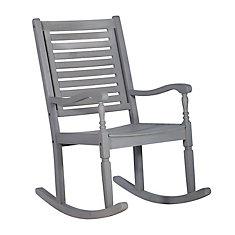 Patio Wood Rocking Chair - Gray Wash