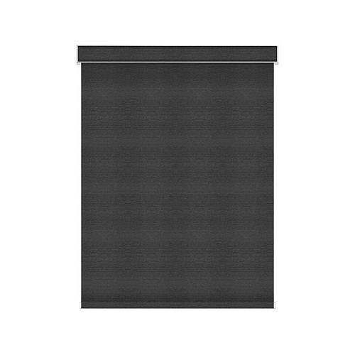 Sun Glow Tissue Opaque Toiles à Rouleau - Motorisé avec Cantonnière - 66.25-po X 84-po en Denim