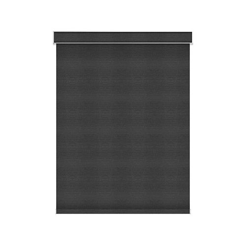 Sun Glow Blackout Roller Shade - Motorized with Valance - 83.75-inch X 84-inch in Denim