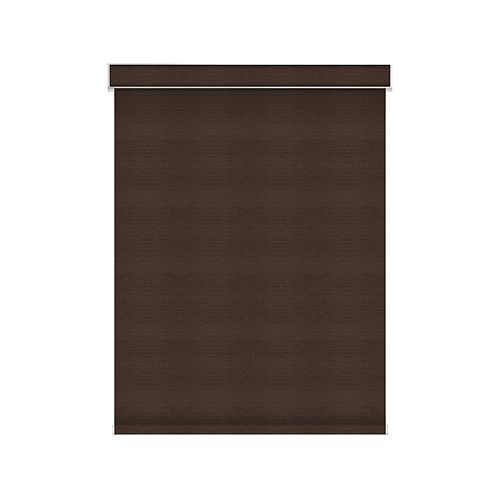 Sun Glow Blackout Roller Shade - Motorized with Valance - 34.5-inch X 36-inch in Cinder