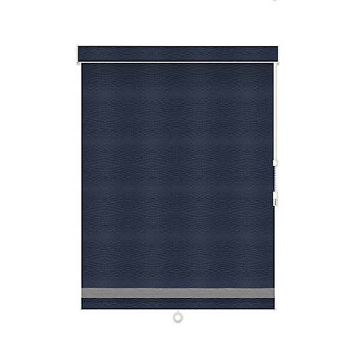Blackout Roller Shade with Herringbone Trim - Chain Operated with Valance - 23-inch X 36-inch