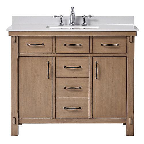 Bellington 42 inch Almond Vanity Bathroom Cabinet