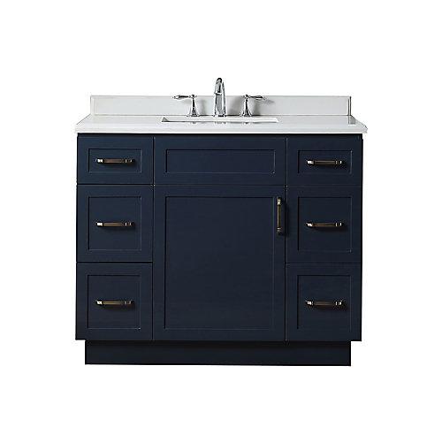 Lincoln 42 inch Midnight Blue Vanity Bathroom Cabinet