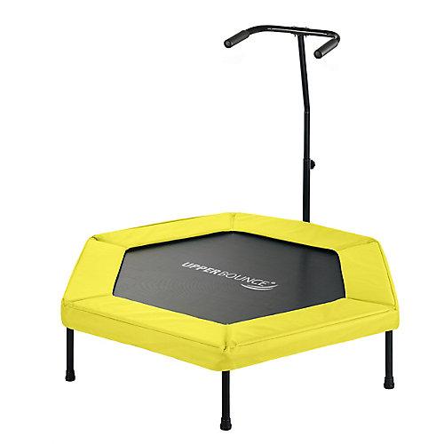 50 po hexagonal fitness mini-trampoline-T-en forme de rail à main réglable-y
