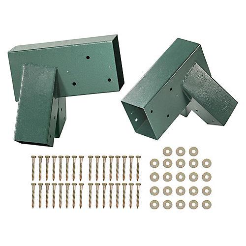 A-Frame bracket-revêtement en poudre vert-ensemble de 2