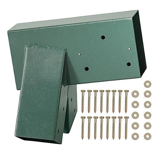 support A-Frame-revêtement en poudre vert-boulons inclus