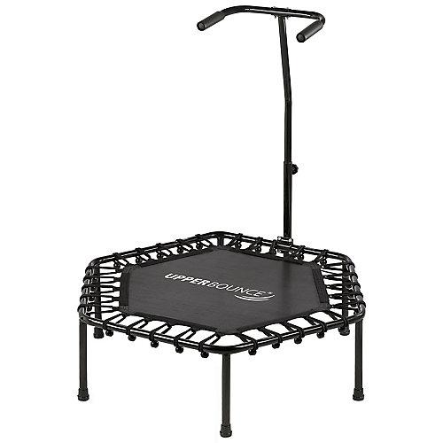 40 po hexagonal fitness mini-trampoline-T-en forme de rail à main réglable
