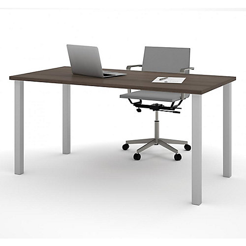 30 inch x 60 inch Table with square metal legs in Antigua