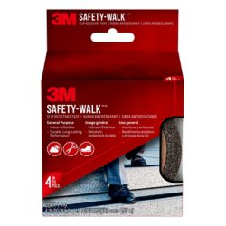 3M Safety-Walk Slip Resistant Tape 610B-R4X180, Black, 4 inch x 15 ft. (10.16 cm x 4.57 m), 1/Pack