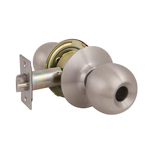 2010 GR2 Entrance Ball Knob Us32d, Less Cylinder, 2-3/4 inch Backset