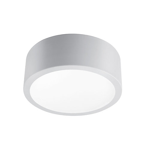 Edinburg Matte Gray LED Integrated Flush Mount Ceiling Light with Frosted Glass Shade
