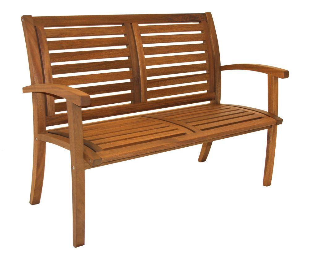 Outdoor Interiors Luxe Eucalyptus Bench | The Home Depot ...
