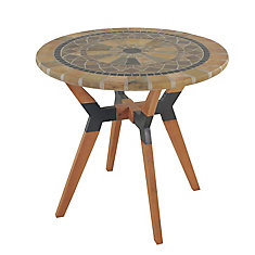 30 inch Dia. Sandstone Mosaic Bistro Table with Mixed Material Base