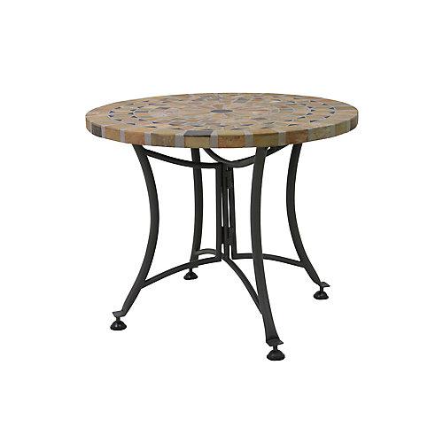 24 inch Dia. Sandstone Accent Table