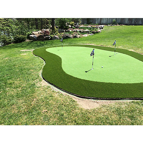 Putting Green 56, Custom Cut 1 ft. x 15 ft. Artificial Lawn Turf Grass