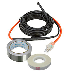Chaleur de traçage de tuyau 30 pi Jeu de câbles (7 W par pied)