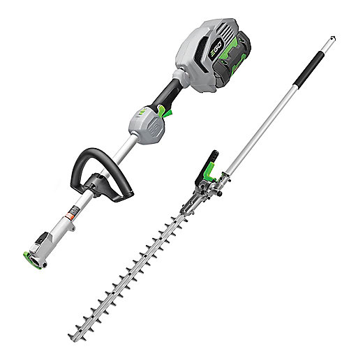56-Volt 20 inch Hedge Trimmer + Power Head Kit 2.5 Ah Battery and 56 V Charger Included